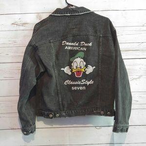 Jackets & Blazers - Vintage style Jean Jacket Donald Duck